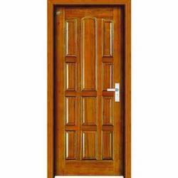 Hinged Brown Modern Wooden Door