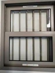 Aluminium Sliding Window Glasses with grril