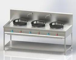Gray Ss Chinese Burner Range, for Commercial