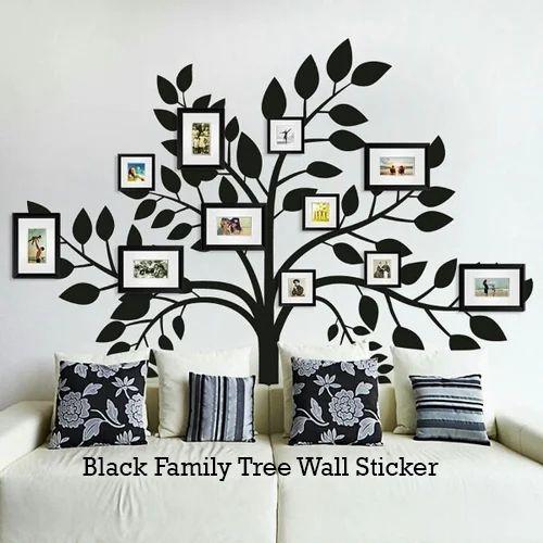 Black Family Tree Wall Sticker, Pvc Wall Stickers   Rowf Interior Solution,  Delhi | ID: 15983969873