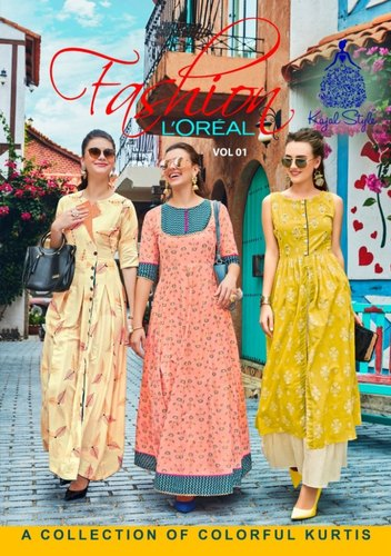 eb3c19da1b Kajal Fashion Loreal Vol 1 Long Designer Ethnic Wear Kurtis Online Shopping