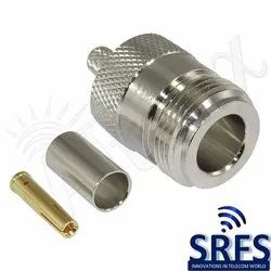 N Female Crimp Connector For LMR200 Cable