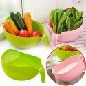 Plastic Multipurpose Rice Wash Bowl With Handle