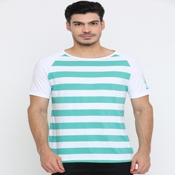 Cotton Green Striped T-Shirts