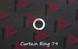 White Pp, Crystal Curtain Ring, For Everywhere, Shape: Round