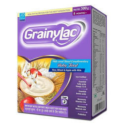 GrainyLac Rice Wheat Apple with Milk, From 8 Months Plus, Baby Food - 300g
