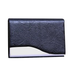 Black Brown Card Holder Leather