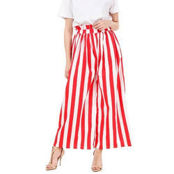 Cotton Western Pants with Wide Leg and Attractive Pattern, Waist Size: 26.0 & 28.0