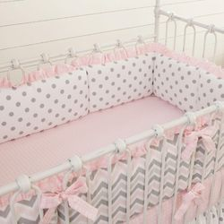 Times Fiberfill Baby Pink Baby Bumpers