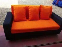 Size: 6.5 Feet Wooden Sofa, Cushion Back, Living Room