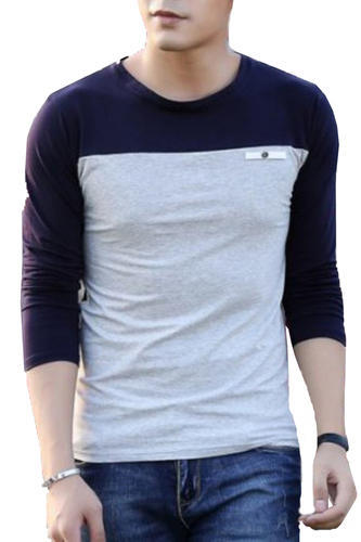 Men's Full Sleeve T Shirt Blue White Grey at Rs 300 /piece ...