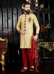 Art Dhupion Wedding Kurta Pajama for Mens