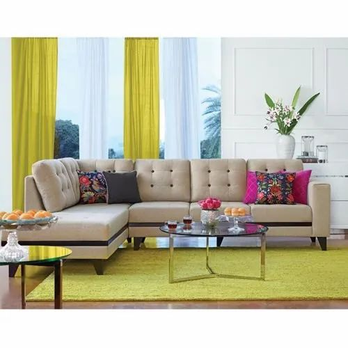 Wood 6 Seater Maharaja Corner Sofa Set