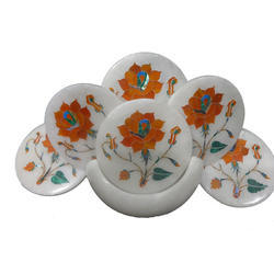 Marble Inlay Decorative Coaster