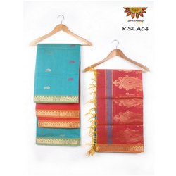KSLA04 Handloom Semi Kora Silk Salwar Set