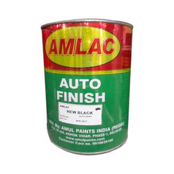 Amlac Auto Finish Black Paint, Packaging Size: 1 L