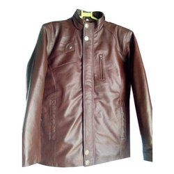 XL KLC Mens Brown Leather Jacket