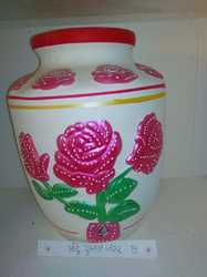 Clay Water Pot Big Rose 16T