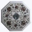 Tables Marble Inlay Side Table Top