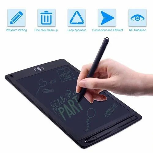 Vaorwne 4.4-inch LCD EWriter Paperless Memo Pad Tablet Writing Drawing Board Blue