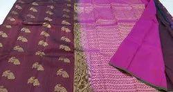 Kanchipuram Silk Saree, Length: 6.3 M with Blouse Piece