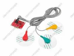 ECG Sensor with ECG Cable and Electrodes AD8232