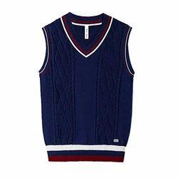 Blue School Uniform Sweater