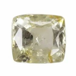 SI Clarity Cushion - Cut Unheat Yellow Sapphire