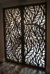 Galvanized Steel Powder Coated Laser Cut Metal Doors, Thickness: 25-40 Mm, Material Grade: G 60