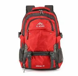 Nylon Red Unisex Travel Backpack Trip Bags