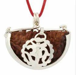 Ek Mukhi Rudraksha Silver Plated Pendant