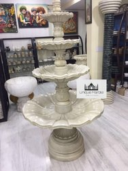 Carved Marble Water Fountain