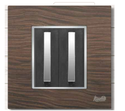 4 Module Black Wood Modular Switch Plate