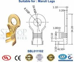 Saroop Part Number: SBL011102 Heavy Duty Brass Lugs And Battery Terminals, Ring