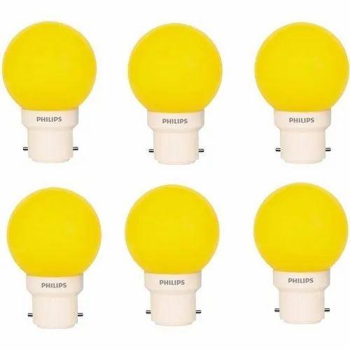 Philips 0.5w B22 Yellow LED Bulb