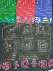 Cotton Fabric Mix New Katha Work Dress Material With Salwar, Dupatta