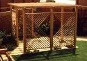 Brown Dome Thermo Pine Wooden Pergola for Outdoor