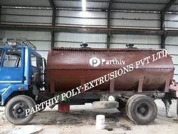 Parthiv Horizontal HDPE Spiral Chemicals Transportation Tanker, Capacity: Up To 20 Kl