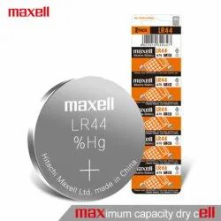 Maxell LR 44 Lithium Coin Cell Battery
