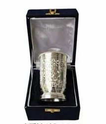 Silver Plated Brass Tumbler