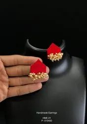 Scarlet Silk Earrings