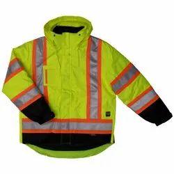Nylon Reflective Safety Jacket for Construction, Size: Medium