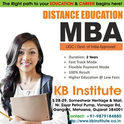 Part Time Education Distance MBA, Mehsana, UGC