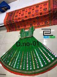 Multicolor Embroidered Navratri Chaniya Choli