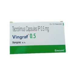 Tacrolimus Capsules IP 0.5 mg, Emcure