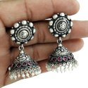 925 Sterling Silver Gemstone Silver Jhumki