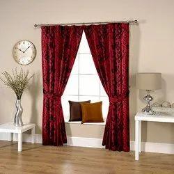 Floral Marun Curtain