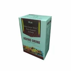 Orange Asvins Energy Drink, Packaging Type: Box, Packaging Size: 105 G