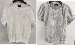 Girls Crushed Pleated Top