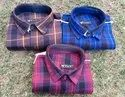 Men Casual Wear Twill Cotton Fabric Check Shirts